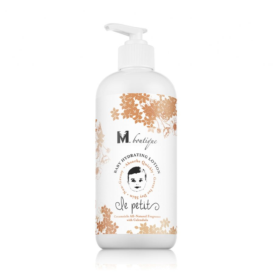 organic baby product hydrating lotion