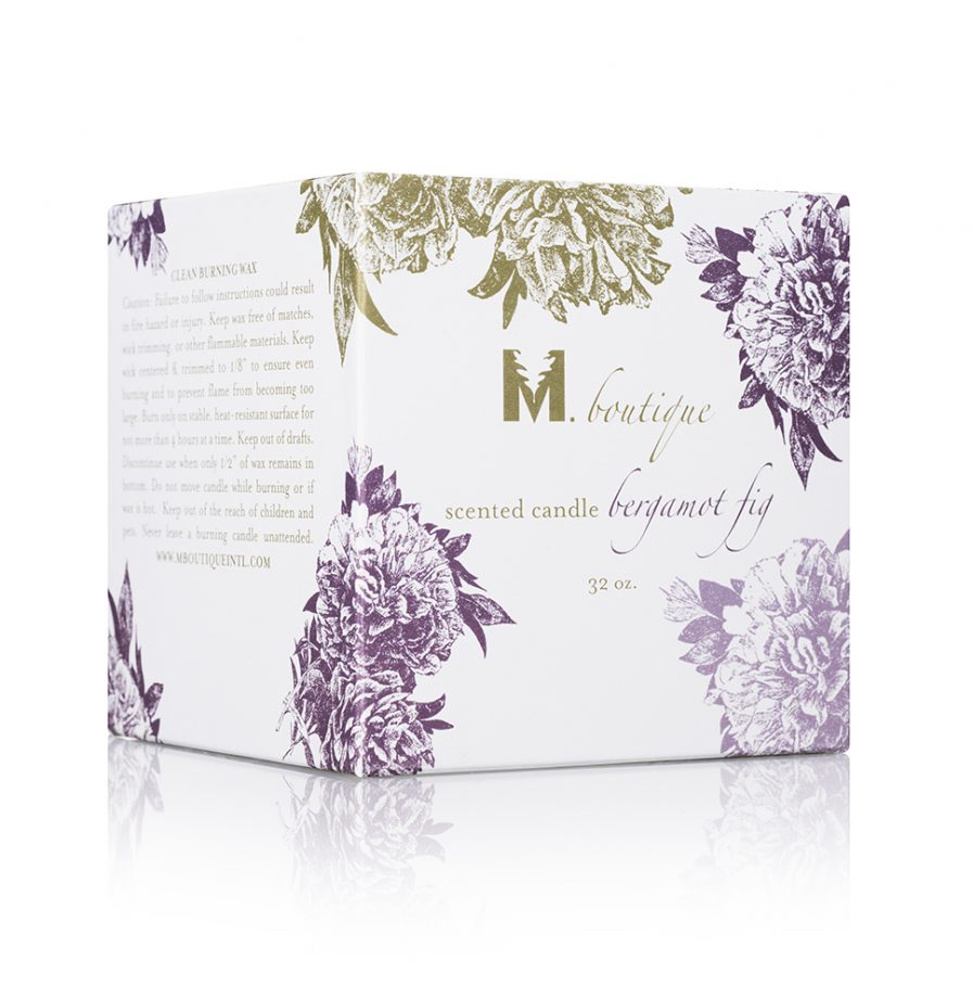 luxury bergamot candle box for great homecare