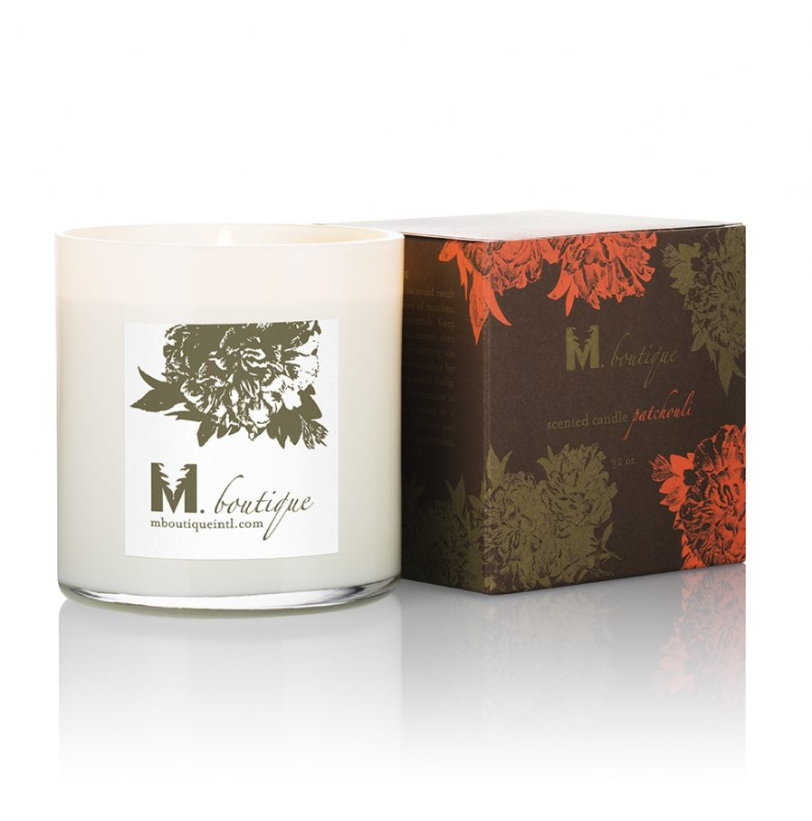 luxury patchouli candle for great homecare